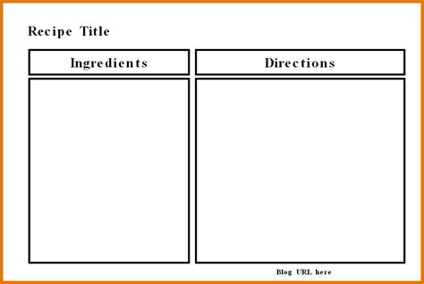 recipe templates for word collection of free cookbook