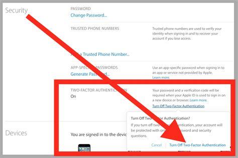 cara membuat id apple yang benar cara mematikan dua factor authentication untuk apple id