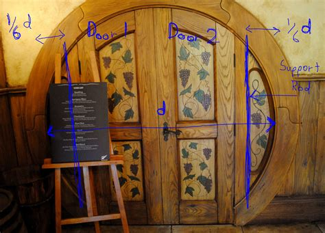 how do you make a door into a swinging bookcase designing a round door hobbit house style wheaton