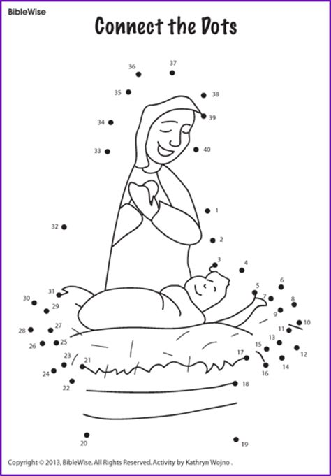 dot to dot jesus printables connect the dots mary and jesus kids korner