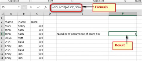 microsoft excel count the number of occurrences of a text