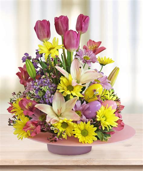celebrate easter with centerpieces flower arrangements