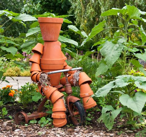 Crafts And Stuff Palm Beach Gardens - how to build a terra cotta clay pot garden person weed it amp reap