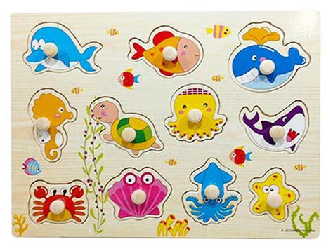 Puzzle Kayu Pin Knob Kecil Motif Hewan Laut Dan Transpo Diskon 1 jual puzzle kayu pin knob binatang laut mainan edukasi anak kid mart