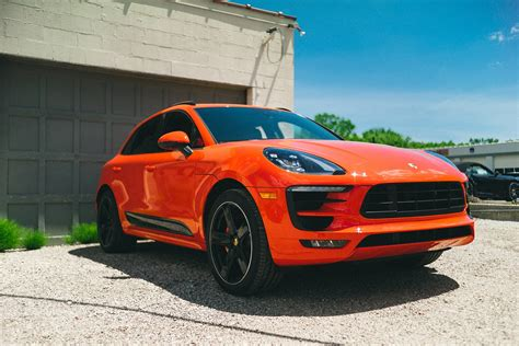 lava orange porsche porsche macan gts in lava orange auto pinterest cars