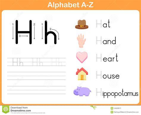 Alphabet Worksheet Set Letters Az by Alphabet Tracing Worksheet Stock Vector Image 44028511