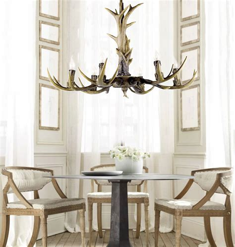 Dining Room Chandeliers Canada Deer Antler Chandelier 6 Lights At Phonegala Canada