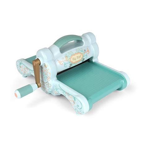 paper craft die cutting machine sizzix big machine only powder blue and teal