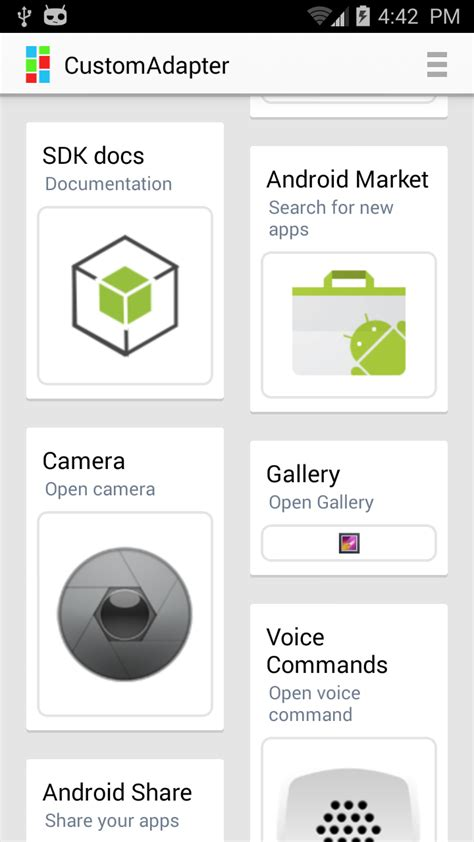 different rowheights in android gridview or equivalent a custom grid list adapter codeproject