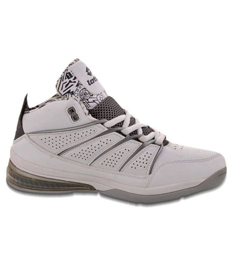 lotto weapon white grey ankle length shoes price in