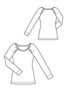 raglan pattern shape patterns on pinterest blouse patterns moda and pattern
