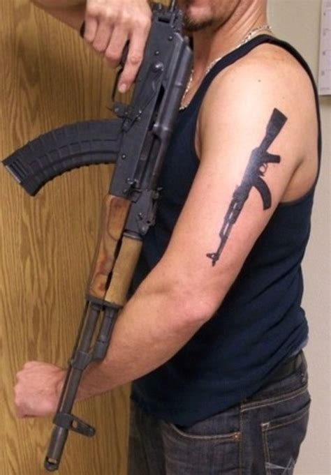 ak 47 tattoo gun picture at checkoutmyink
