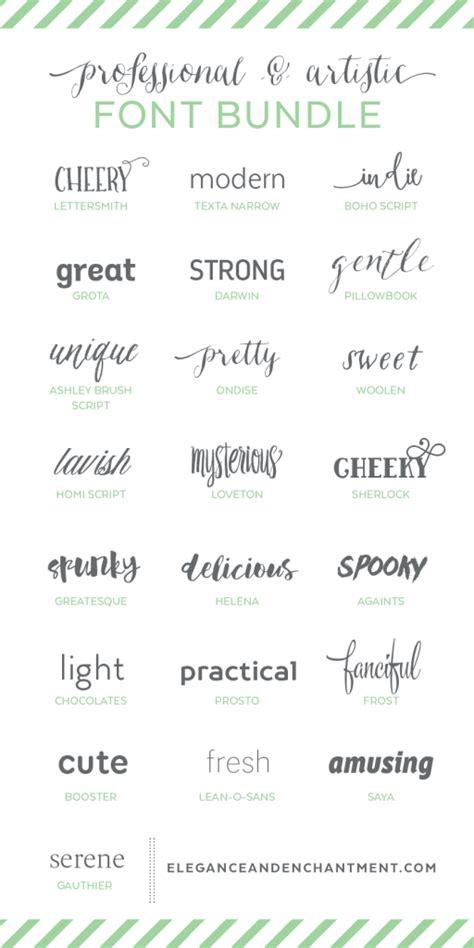 design font bundles professional and artistic font bundle michellehickey design