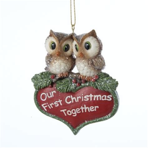 romantic our first christmas together ornaments