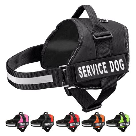 service dog vest harness nylon reflective service dog harness vest with removable