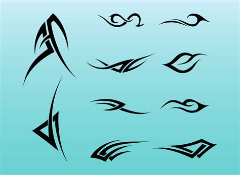 curved tribal tattoos tribal tattoos vector