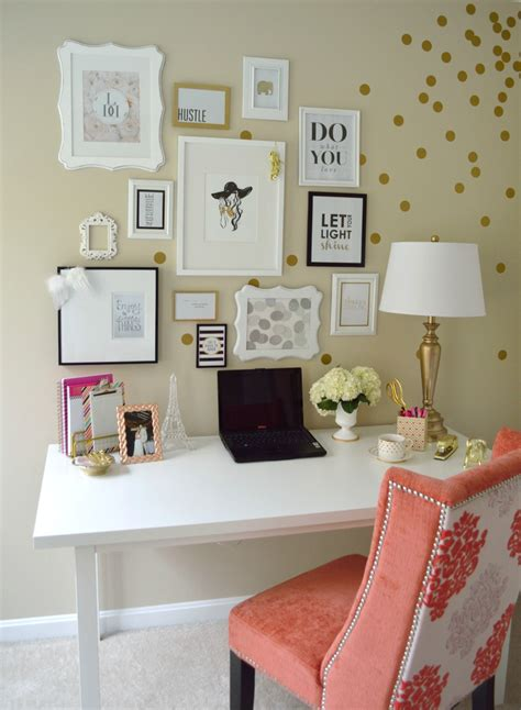 diy home office makeover sayeh pezeshki la brand logo lydia lynn s polka dotted and cheerful home office office