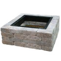 Home Depot Firepits Anchor 44 In Northwoods Fresco Square Pit Kit 70300881 The Home Depot
