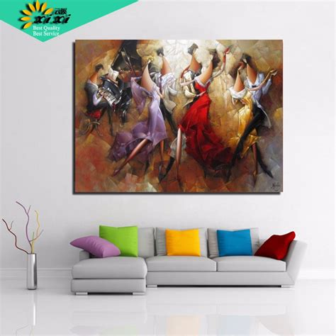 gift for home decoration xixi art abstract oil paintings coloring 40 50 picture