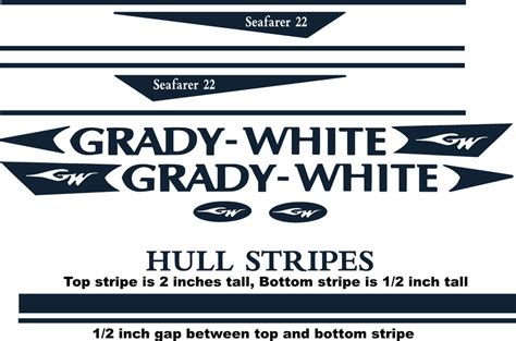 boat hull stripes decal stripe kits for grady white boats with hull