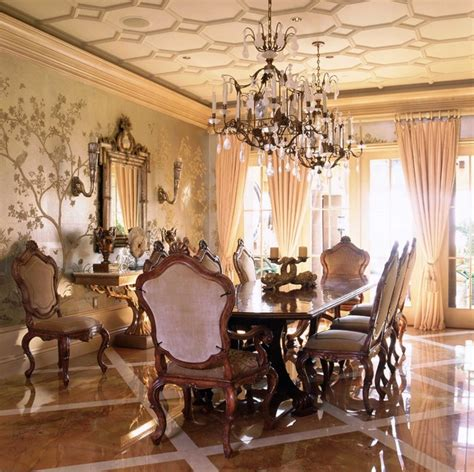 dining room wall murals italian style in newport coast california traditional