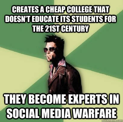 Cheap Meme - creates a cheap college that doesn t educate its students