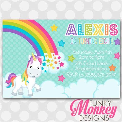 printable rainbow unicorn invitations rainbow unicorn printable invitation unicorn poney
