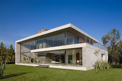 Glass And Concrete House | massive concrete glass residence in mexico gp house