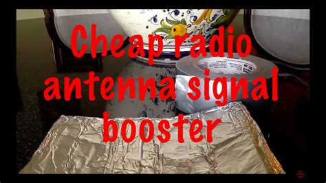 how to make a cheap and temporary radio antenna signal
