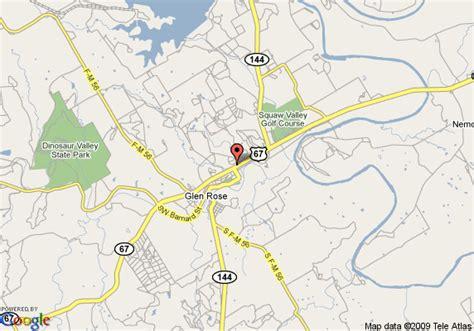 glen texas map map of best western dinosaur valley inn and suites glen