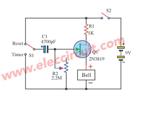 fundamental electronic circuits simple timer circuit diagram circuit and schematics diagram