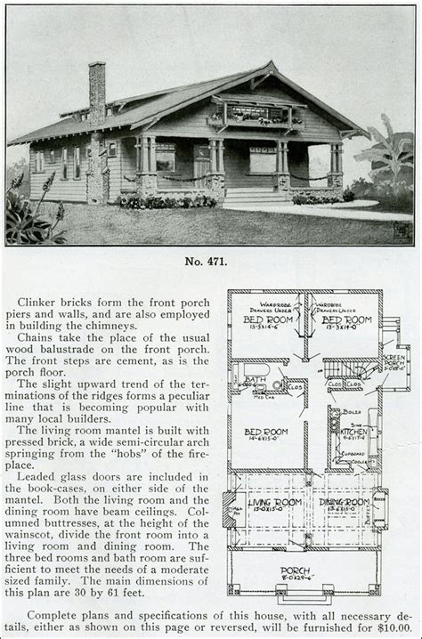 1910 house plans japanese style bungalow 1910 henry wilson bungalow house