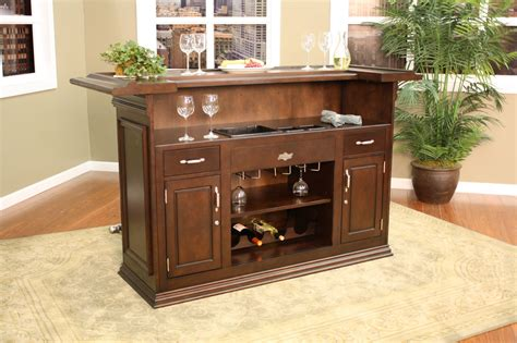 entrancing home bar ideas design with small wooden table