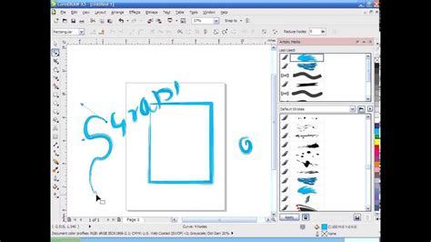 youtube tutorial coreldraw x5 corel draw x5 tutorial artistic media tool full free