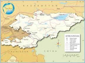 middle east map kyrgyzstan kirgistan satelliten karte