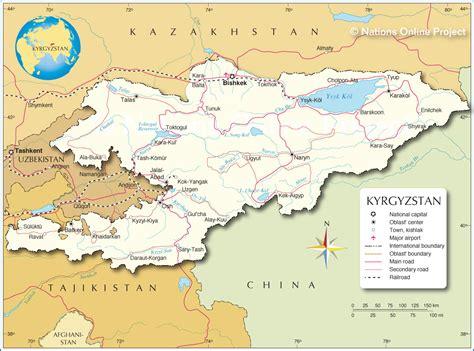 kirgistan map kirgistan satelliten karte