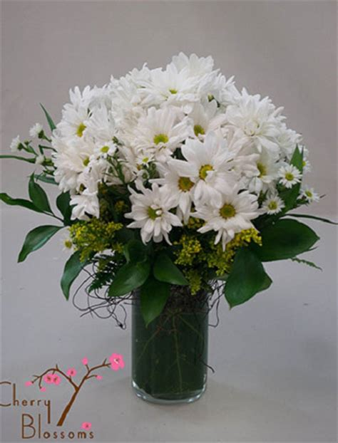 Daisies In A Vase by Vase Bouquet Cherry Blossoms Florist Westminster Co