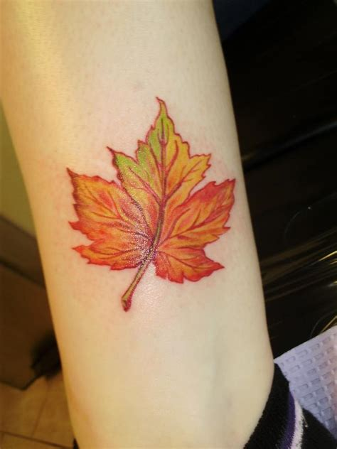 fall leaves tattoo 79 simple leaves design ideas for nature