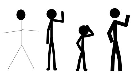 animated figurines creating stick figures for flash animation