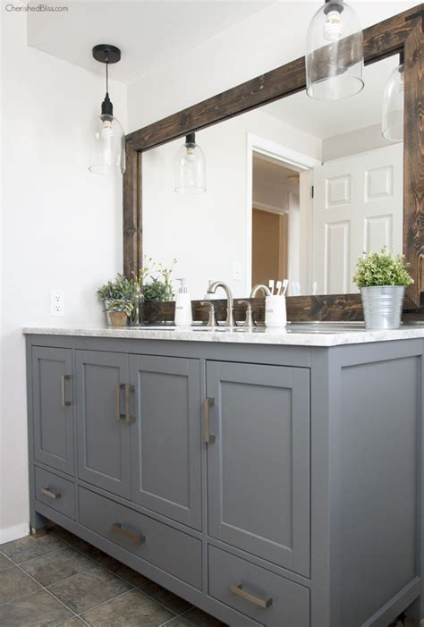 industrial style bathroom vanity industrial farmhouse bathroom reveal cherished bliss