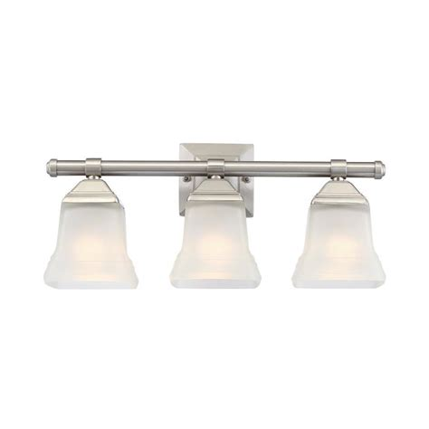 portfolio bathroom light fixtures shop portfolio 3 light 10 4 in brushed nickel vanity light