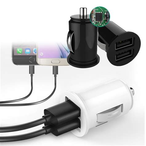 Batok Adapter Charger Log On Dual Usb 2 In 1 Total 34a Fast Charging car truck auto dual 2 port usb mini charger adapter for