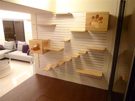 Wood Ladder Bookshelf Plans by Casa Adaptada Para Gatos