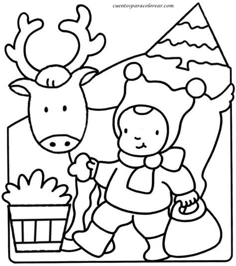 cuentos de navidad para colorear pintar im genes dibujos para colorear animales navide 241 os