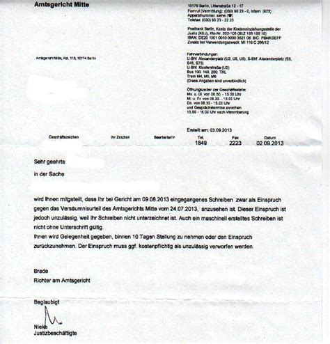 Beschwerdebrief Firma Richter Best 228 Tigt Schreiben Ohne Unterschrift Nicht G 252 Ltig Netzwerk Volksentscheid