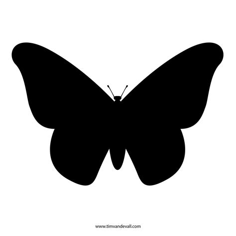 Free Butterfly Stencil Monarch Butterfly Outline And Silhouette Stencil Template