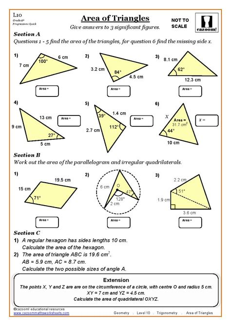 printable area fun math worksheets worksheet for middle with visuals fun
