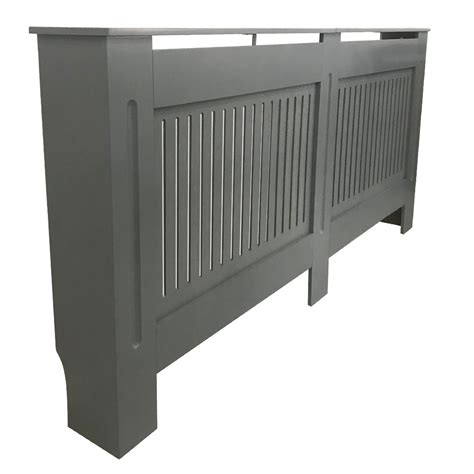 radiator cover grey painted traditional  mdf vertical