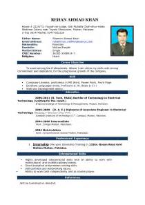 resume format for experienced free it resume