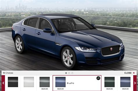 what color is a jaguar jaguar xe configurator reveals variants trims specs